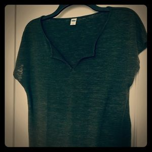 Old navy low neckline shirt/ size small